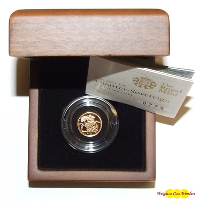 2011 Gold Proof 1/4 SOVEREIGN